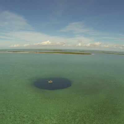 Thatchpoint Blue Hole.  Photo by: Nicole d'Entrement