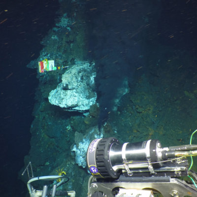 View of Hydrothermal Vent.  Photo by D. Fornari and T. Barreyre.